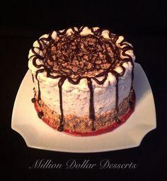 Vanilla Toffee Explosion Cake