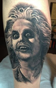 Tattoo Artist – Bob Tyrrell – www.worldtattooga… Tattoo Artist – Bob Tyrrell – www. Wicked Tattoos, Movie Tattoos, Creepy Tattoos, Disney Tattoos, Horror Tattoos, Nerd Tattoos, Type Tattoo, Tattoo Shows, Tim Burton