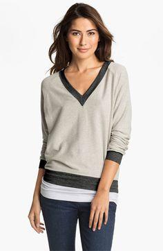 Cielo 'Inside Out' V-Neck Sweatshirt | Nordstrom