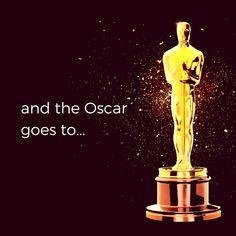 'and the Oscar goes to…' #Oscars #DesignPickings