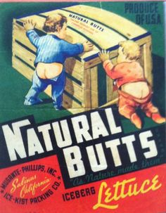Natural Butts Iceberg Lettuce, 1950s  I thought E. would like this.