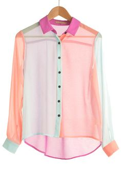 The Bright Choice Top from ModCloth. Really pretty blouse for Summer. Would look really nice on a blonde or someone with black hair! Might get this for summer nights.