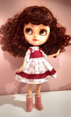 Dress for Blythe, Icy, Pullip Vintage Dolls, Blythe Dolls, Art Dolls, Disney Characters, Fictional Characters, Disney Princess, Etsy, Print Fabrics, Cute Dolls