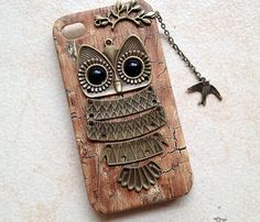 iphone 5 case cover Owl with Branch bird pendant by hgforeverstar, $12.99