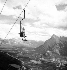 Just Marilyn Monroe in a chairlift over Banff