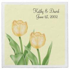 Yellow Tulips (Wedding) Paper Napkins ............ http://www.zazzle.com/yellow_tulips_wedding-256382910139695826?rf=238631258595245556