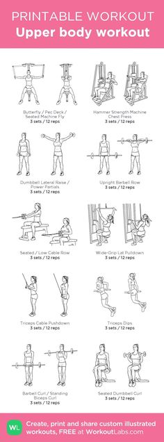 Upper body workout · Free workout by WorkoutLabs Fit
