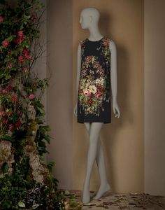 FLORAL PRINT SHIFT DRESS - Short dresses - Dolce&Gabbana - Winter 2015