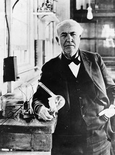 "Thomas Edison ""Genius is one percent inspiration and ninety-nine percent of perspiration."" Edison didn't invent the light bulb, he improved upon the ideas of 22 other men who pioneered the light bulb before him. Edison simply figured out how to sell the light bulb and registered a patent. He held a record-breaking 1093 patents."