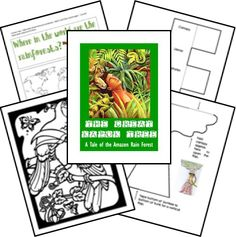 The Great Kapok Tree Free Unit Study and Lapbook Printables - supports sustainability, conservation, causation...