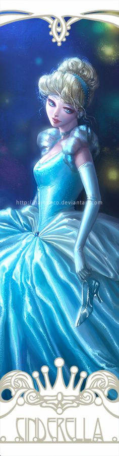 Disney Princesses Bookmarks: Cinderella by hart-coco on @DeviantArt