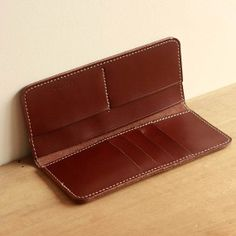 Men's Women's Genuine Leather Bifold Long Wallet by KuLaLaWorld, $30.00