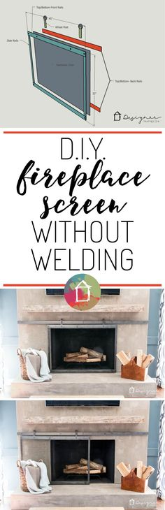 How to Make a Barn Door Style Fireplace Screen   Fireplace screens ...