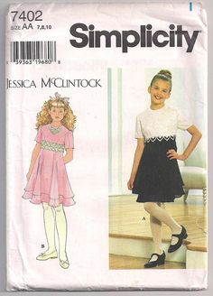 Hey, I found this really awesome Etsy listing at https://www.etsy.com/listing/243431160/jessica-mcclintock-girls-dress-pattern