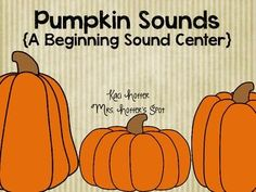 FREE!! This is a great center for your students to play. Great for the fall season. Students identify beginning sound and record on response sheet.