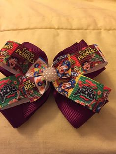 A personal favorite from my Etsy shop https://www.etsy.com/listing/482755424/cereal-hair-bow
