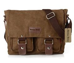 Bronze Times(TM) Mens Small Military Canvas Messenger Bag -- Read more reviews of the product by visiting the link on the image.