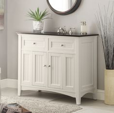 Cottage Style Thomasville Bathroom Vanity ( like that it's off the floor - open at the bottom)