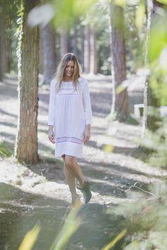 Prairie Lace Dress in White