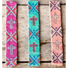 Barista Beaded Cross Headbands   Amazing Lace