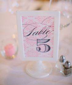 db25c66730d Damask Navy   Pink Wedding Table Numbers - 1 through 10 - Assembled in Ikea  Tolsby frames