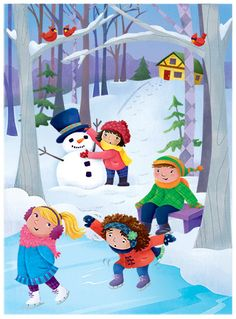 Robin Boyer Snowman Clipart, Winter Drawings, Winter Activities For Kids, Winter Illustration, Cute Images, Drawing For Kids, Christmas Pictures, Winter Wonderland, Xmas