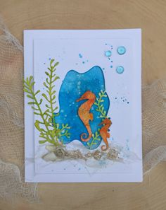 Ocean Card by Donna