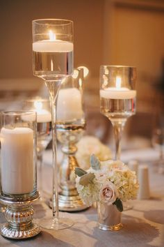 280 best floating candle centerpieces images wedding centerpieces rh pinterest com Gold Candle Centerpiece Ideas Hurricane Candle Centerpiece Ideas