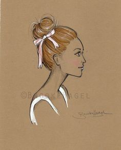 Lovely Lauren Fashion Illustration by Brooke Hagel by brooklit