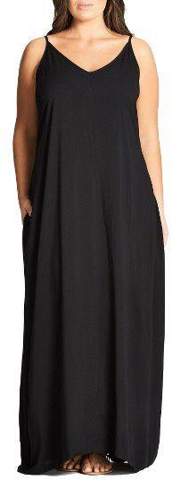 Plus Size Women's City Chic V-Neck Maxi Dress