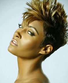 Cool Short Hairstyles for Black Women 2014 Cool Short Hairstyles, Chic Hairstyles, Black Women Hairstyles, Pixie Hairstyles, Hairdos, Weave Hairstyles, Hair Styles 2014, Hot Hair Styles, Natural Hair Styles