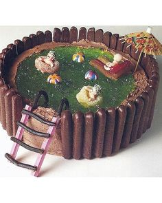 The Woman's Weekly swimming pool cake was always a favourite, and has been known to pop up at the birthday parties of all grown up hipsters.