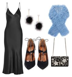"""""""How to Style Our Black Dakota Flat"""" by guiltysoles on Polyvore featuring Protagonist, Charlotte Simone, Cara and Yves Saint Laurent"""
