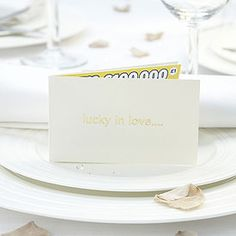 Ivory scratch card favour  (In envelope - placeholder)