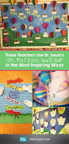 These Teachers Use Dr. Seusss Oh, the Places Youll Go! in the Most Inspiring Ways. This book is a treasured item in schools, and has become one of the most inspiring and beloved classics for teachers. We gathered some of our favorite activities for yo Dr Seuss Art, Dr Seuss Crafts, Dr Seuss Week, Dr Seuss Activities, Writing Activities, Halloween Activities, Sequencing Activities, Autism Activities, Sensory Activities