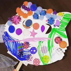 My 2 little artists this morning came back for a second round of art and craft after there village shop  We had to share this master piece the detail has blown my mind.