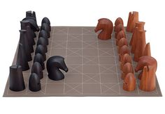 When I wrote about The Most Glam Games: Outdoor & Indoor, readers wondered where the chess sets were. The truth is, I've always been intimidated by chess and its complex strategy (when I play games, my strategy is simple: win). Modern Chess Set, Chess Set Unique, Making Space, Chess Pieces, Game Pieces, Ny Times, Board Games, Hermes, Cool Stuff