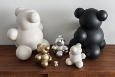 Mo Bears the Molecular Bears as seen in Montecristo Magazine $144 - $159 http://odengallery.com/vendor/anyuta-gusakova/ #gifts #handcrafted #art #teddybear