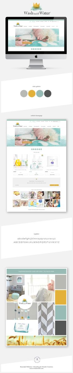 Website Design for Wash With Water | Beautiful Websites + Branding for Female…