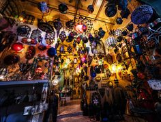 I love Moroccan lamps! I love them so much that I bought nine of them while I was in Fes and had them shipped back here. Now that was a real fiasco because of customs. I think I paid about $500 for the lamps and $600 just to get them in the country! - Fes, Morocco - Photo from #treyratcliff Trey Ratcliff at http://www.StuckInCustoms.com