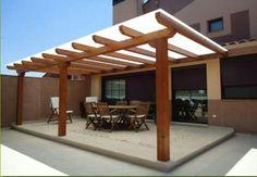 Pergola With Retractable Canopy Kit Pergola Carport, Deck With Pergola, Outdoor Pergola, Backyard Pergola, Pergola Shade, Patio Roof, Pergola Plans, Backyard Landscaping, Outdoor Spaces