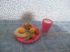 Barbie 1:6 Kitchen Dishes Miniature Food Breakfast Egg Hash Browns Sausage #1