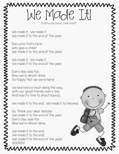 We Made It . . . end of the year song. Use for classroom award nights and EOY performances!