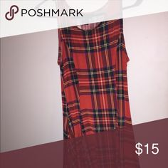 Woman's Plaid Dress Super cute plaid dress that I bought at Hot Topic a couple years ago and never wore. It's either a medium or a large.                                              If anyone is interested, please buy quickly! I'm pricing items to sell. And if you would like to make an offer, I'll most likely accept it. Dresses Mini