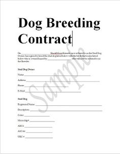 Contract Template Word Free Puppy Sales Contract Template & Worddoc Sample  Free Puppies .