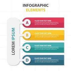 Plantilla colorida de elementos infográficos