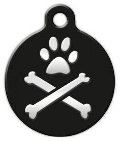 Lupine Pattern Bling Bonz  Custom Pet ID Tag for Dogs and Cats  Dog Tag Art  LARGE SIZE ** Want to know more, click on the image.