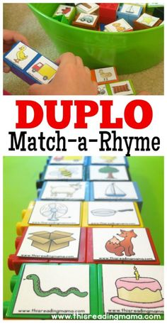 How To Circumvent IP Possession Concerns Every Time A Strategic Alliance, Three Way Partnership Or Collaboration Fails Duplo Rhyming Word Matching - With Free Rhyming Pictures This Reading Mama Emergent Literacy, Kindergarten Literacy, Early Literacy, Literacy Centers, Rhyming Pictures, Rhyming Activities, Rhyming Preschool, Pre Reading Activities, Preschool Printables