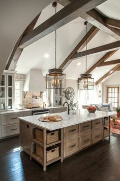 Awesome Italian Rustic Kitchen Decorating Ideas 36 Stunning Rustic Country Kitchen Design And Decor Ideas Rustic Italian Decor, Rustic Country Kitchens, Country Kitchen Designs, Rustic Kitchen Design, Modern Farmhouse Kitchens, Farmhouse Kitchen Decor, Home Decor Kitchen, Interior Design Kitchen, Home Kitchens