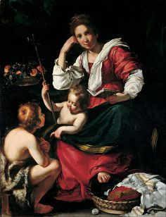 Bernardo Strozzi - Madonna and Child with Infant Saint John